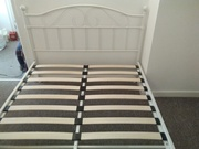 White metal double bed .hardly used